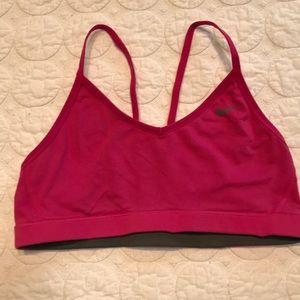 {Nike} Pink and Gray Reversible Sport Bra Medium